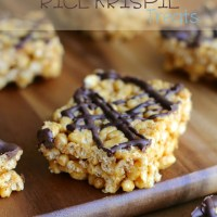 . healthy rice krispie treats .