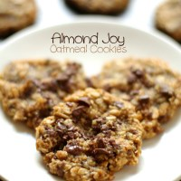 . almond joy oatmeal cookies .