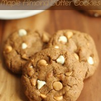 . flourless maple almond butter cookies .