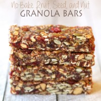 . fruit and seed granola bars .
