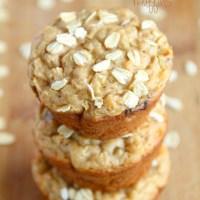 . apple oat greek yogurt muffins .