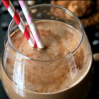 . chocolate overnight oatmeal smoothie .