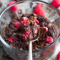 dark chocolate raspberry breakfast bake