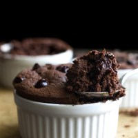 fudgy double chocolate mug cake