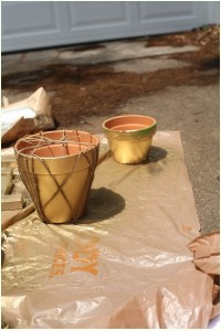 How to Spray Paint Terra Cotta Pots - Run To Radiance