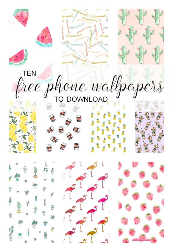 FREE! Cute iPhone wallpapers - 10 cute phone backgrounds you can