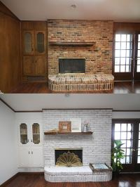 Update a Brick Fireplace: How to Whitewash Brick the Easy Way