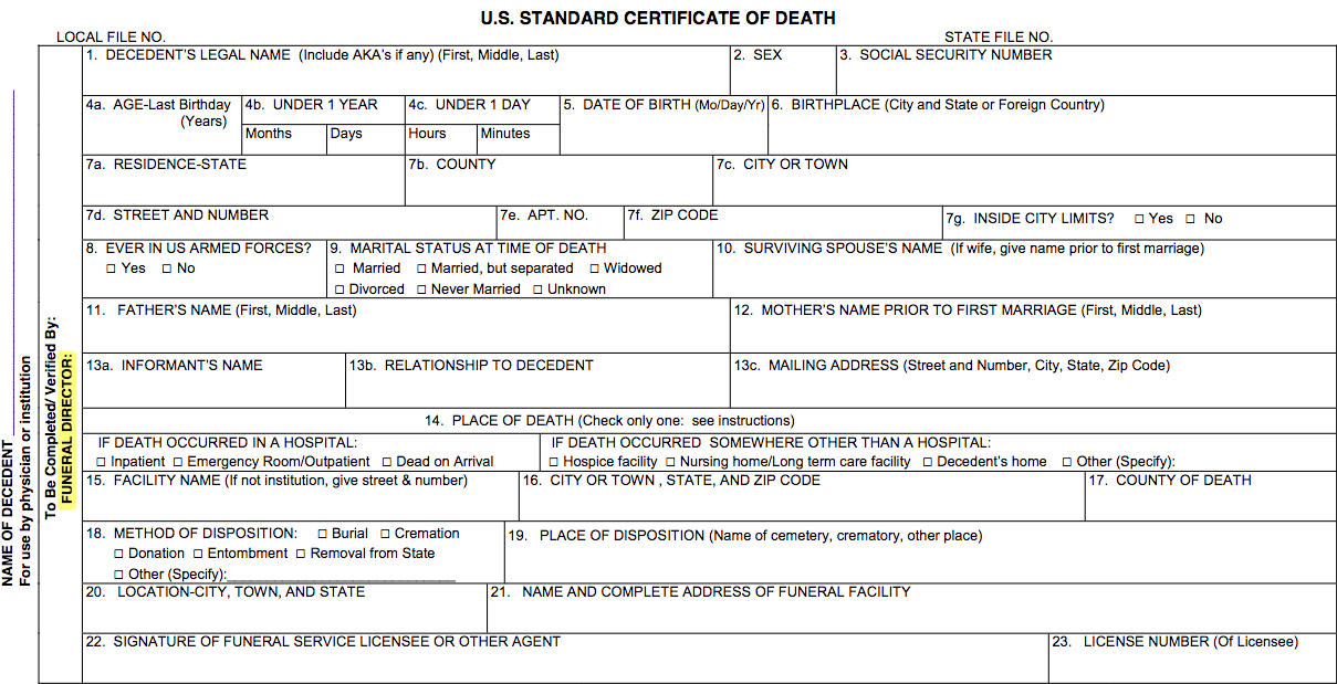 Death Certificates A Closer Look at Detail - The Rural Monitor