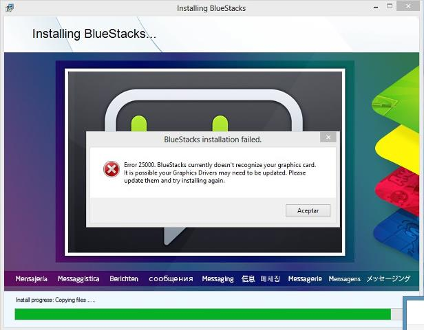 Bluestacks Graphic Card Error