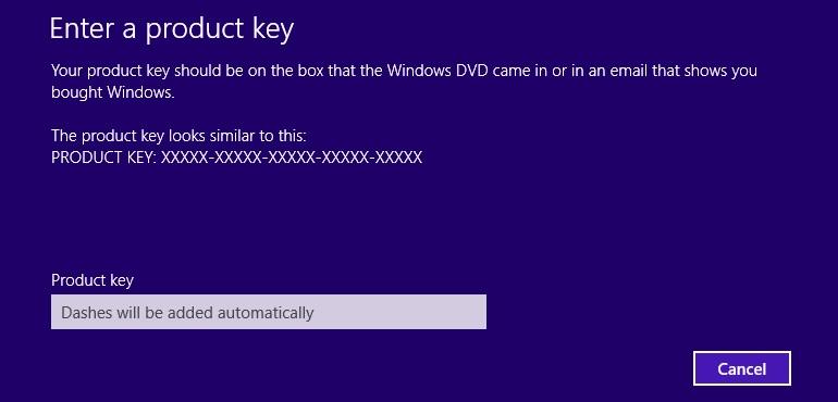 How to Fix Windows 8 Activation Error 0xC004F074 - Enter Product key slui 3