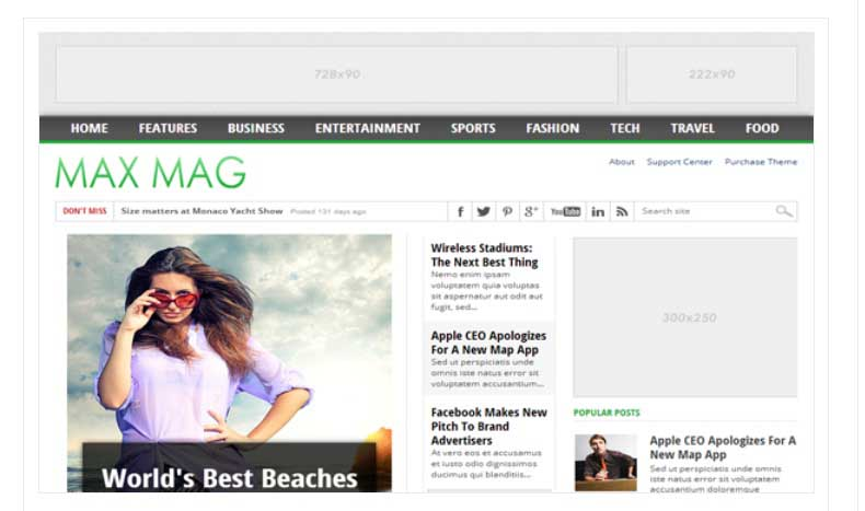 Best FREE Responsive Templates for Blogger - Maxmag