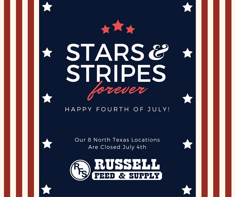 Russell Feed_Closed July 4th_FB Post  Russell Feed  Supply