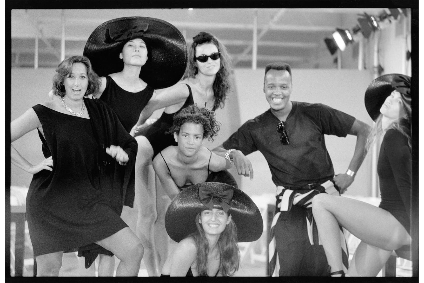 Donna Karan, Edward Wilkerson and models.