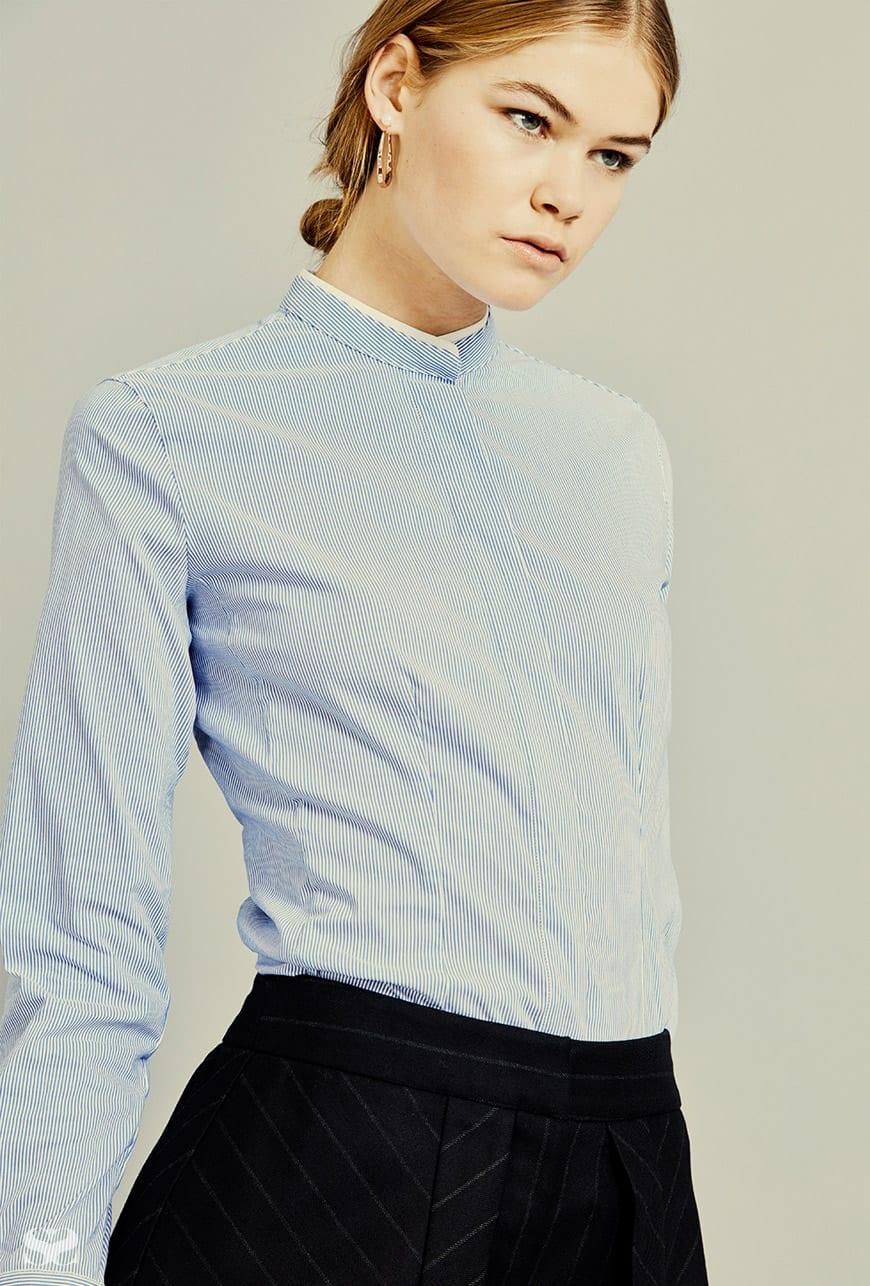 EMPORIO ARMANI shirt; CUE pants.