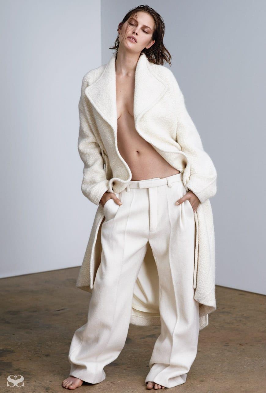 THEYSKENS' THEORY coat; HAIDER ACKERMANN pants.