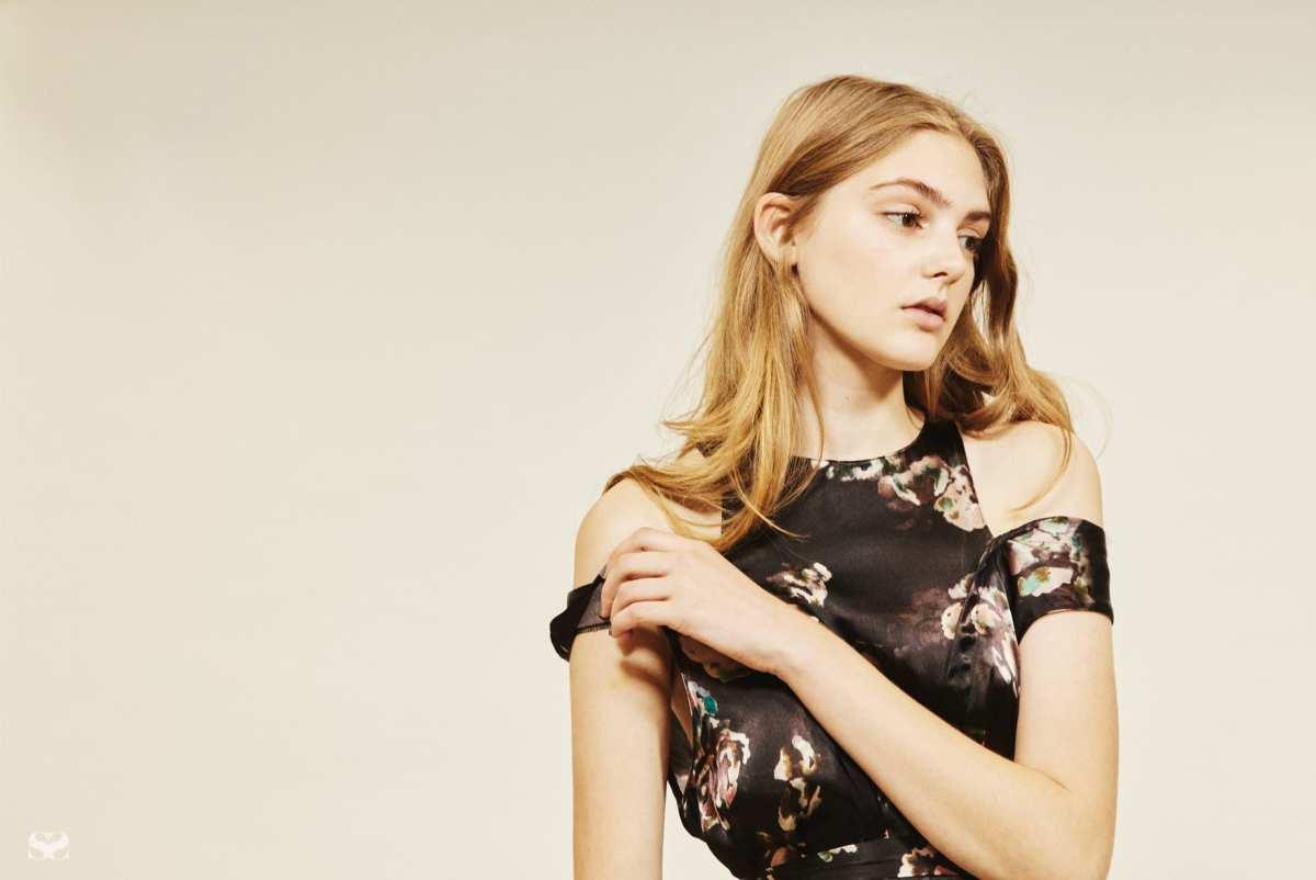 ASOS floral cut-out dress.
