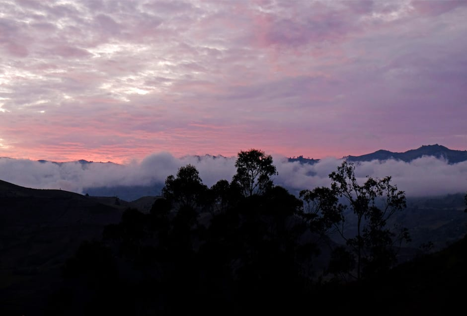 """Magical sunset in the Ecuadorian Andes."""