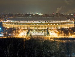 View to Luzhniki stadium from Sparrow's hills
