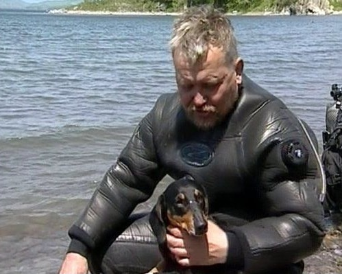 boniface scuba dog photo