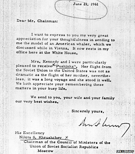 Kennedys letter to Khrushchev Russian Dog Bit the Kennedys