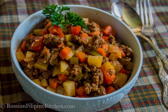 Filipino Beef Giniling