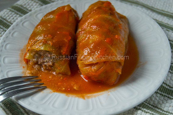 Golubtsy - Stuffed Cabbage Rolls