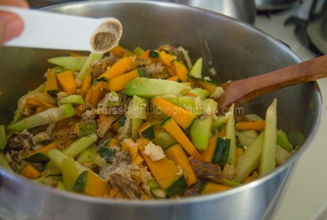 Sautéed Chayote and Squash With Shredded Fish (Ginisang Sayote at Kalabasa) 13