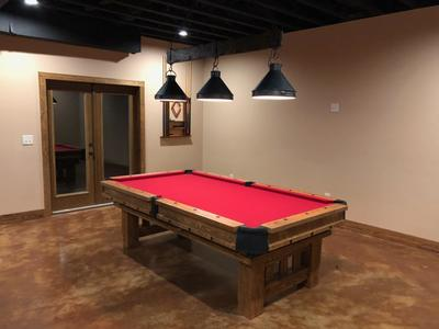 Barnwood Log Pool Tables - Rustic Billiards