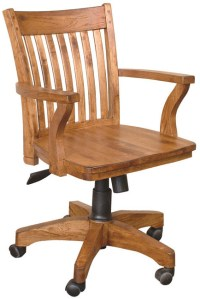 Rustic Furniture - Rustic Oak Office Arm Chair