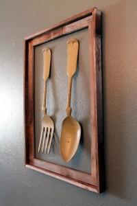 Fork and Spoon Fence Post Wall Art | Rustic Sunshine