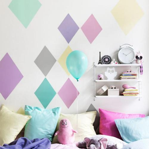 pintar paredes con figuras geom tricas