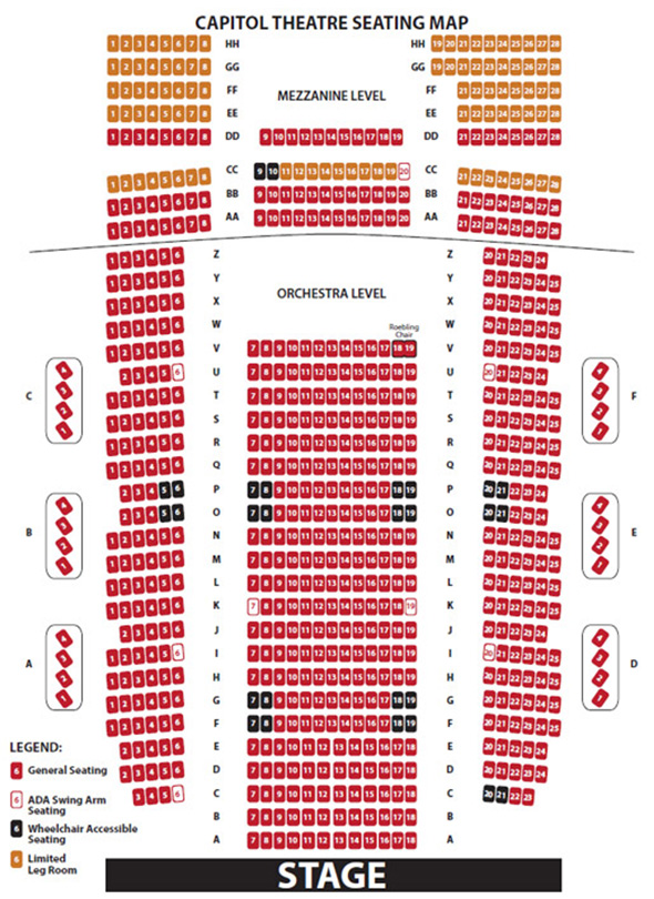 Seating Charts Ruth Eckerd Hall - seating chart