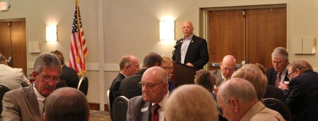 Congressman Scott DesJarlais speaking at the GOP luncheon in Murfreesboro. April 5th, 2016.