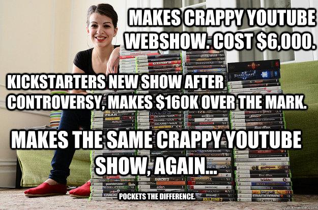 games anita sarkeesian chick slut whore lame dumb gay funny hypocrite cheat crook