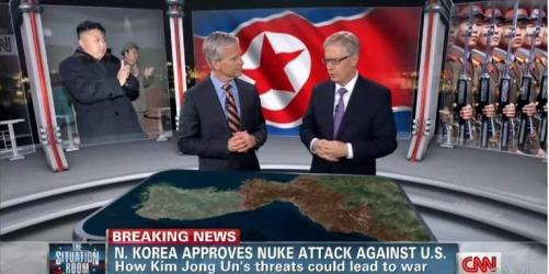cnn north korea propaganda war
