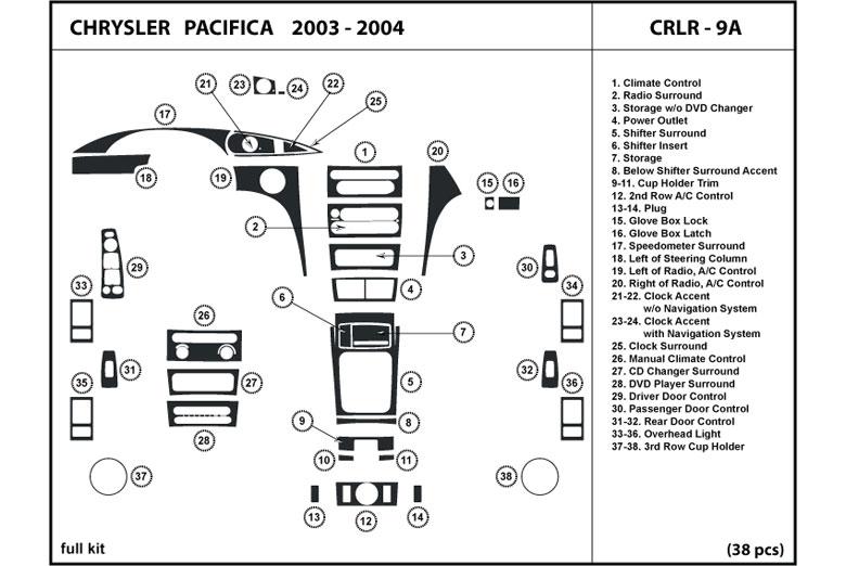 2004 chrysler crossfire dl auto dash kit diagram