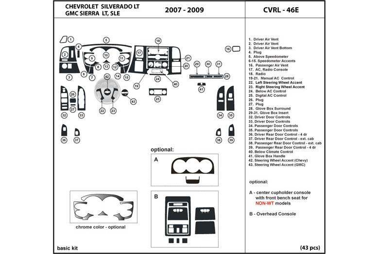 2008 chevy silverado dash
