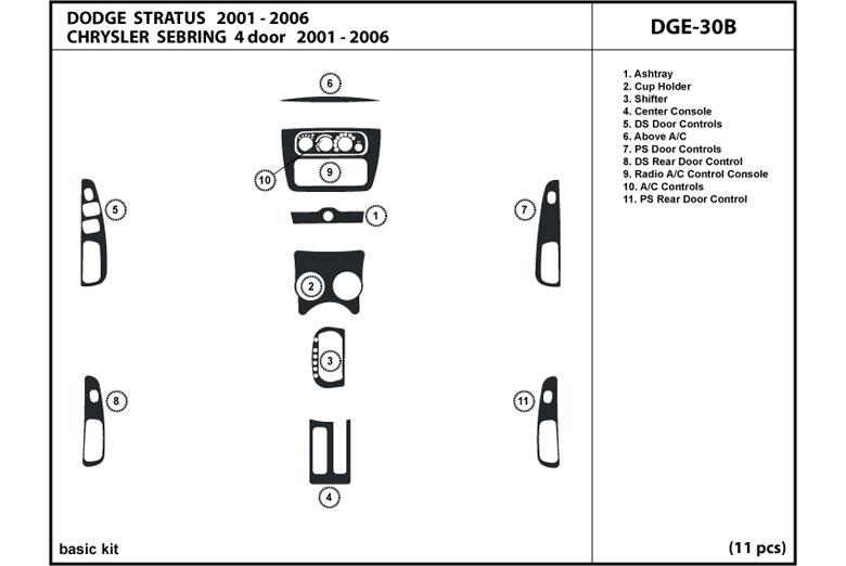 2006 Dodge Stratus Dash Kits Custom 2006 Dodge Stratus Dash Kit