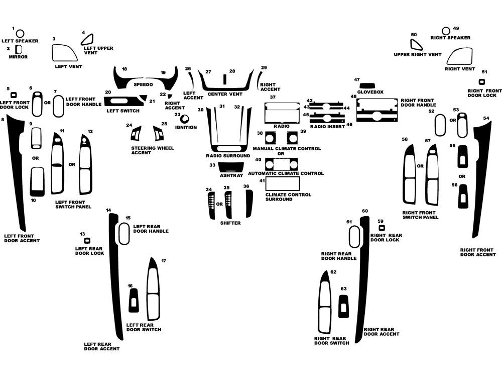 Chevrolet Malibu 2008-2013 Dash Kits DIY Dash Trim Kit