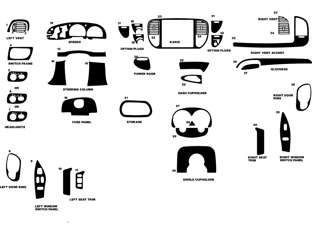 1997 ford f150 dl auto dash kit diagram