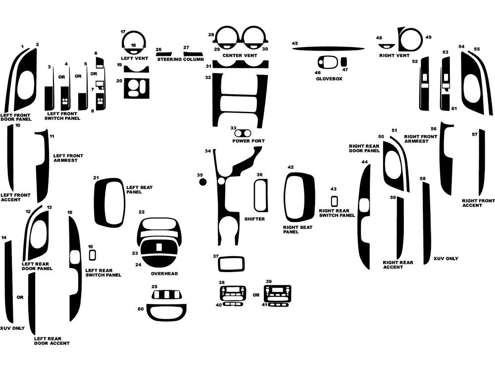 Isuzu Ascender 2003-2005 Dash Kits DIY Dash Trim Kit