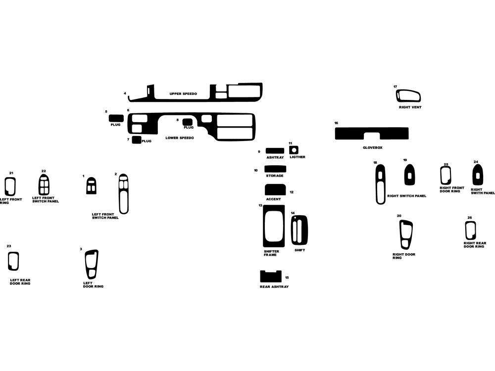 1992 honda civic dl auto dash kit diagram