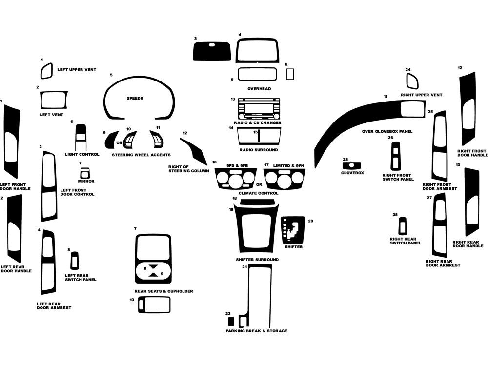 Subaru Forester 2009-2013 Dash Kits DIY Dash Trim Kit