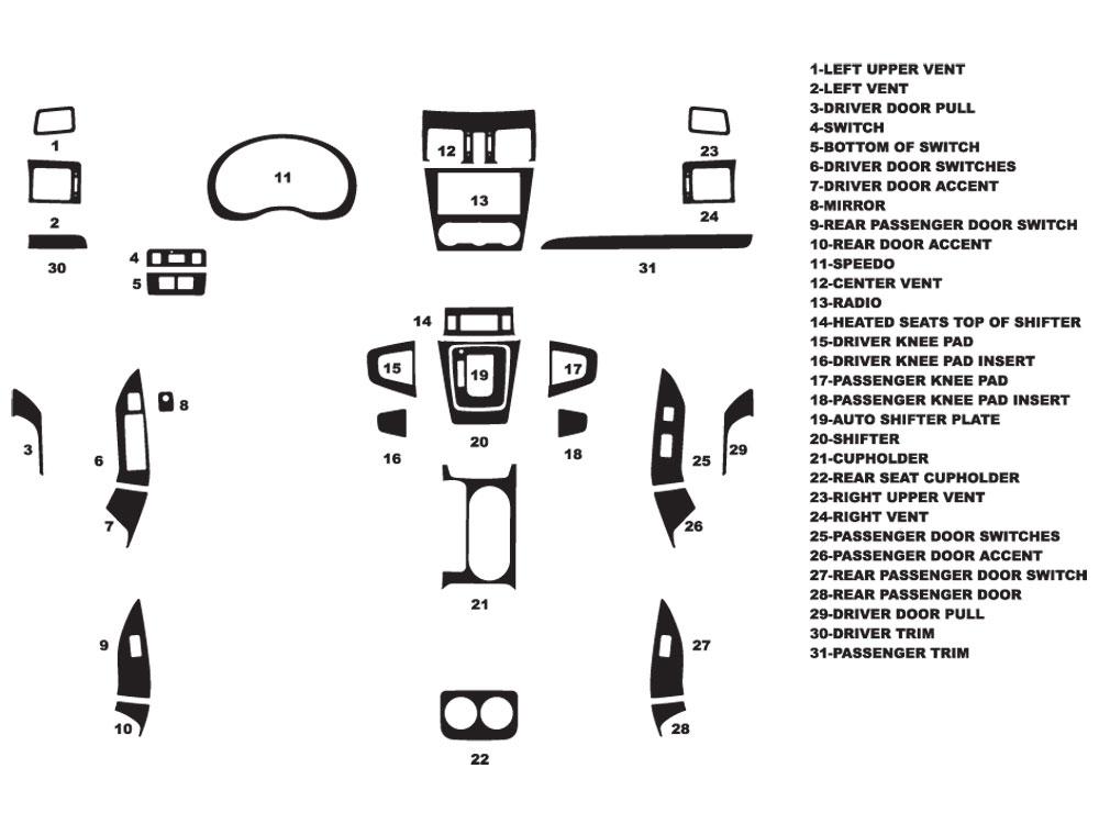 Subaru Forester 2014-2015 Dash Kits DIY Dash Trim Kit