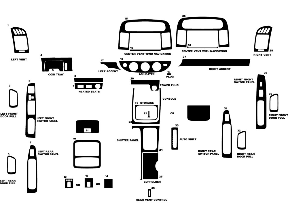 Toyota Camry Parts Diagram Toyota Camry Parts Diagram Index