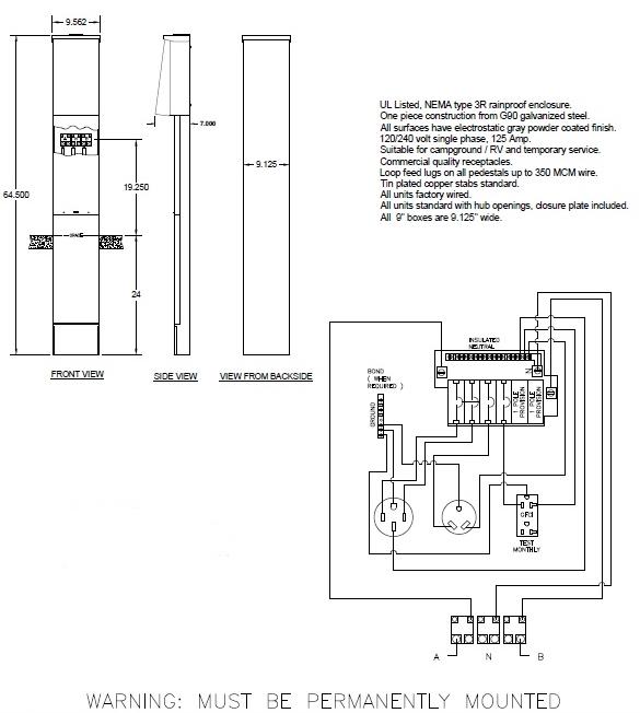50 amp rv pedestal wiring diagram