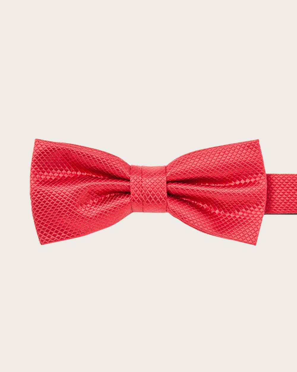 Classic solid bright red bow tie