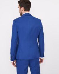 Slim Fit Solid Bright Shawl collar Blazer   RW&CO.