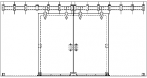 Sliding Door Hardware Flat Box Track Systems Accessories
