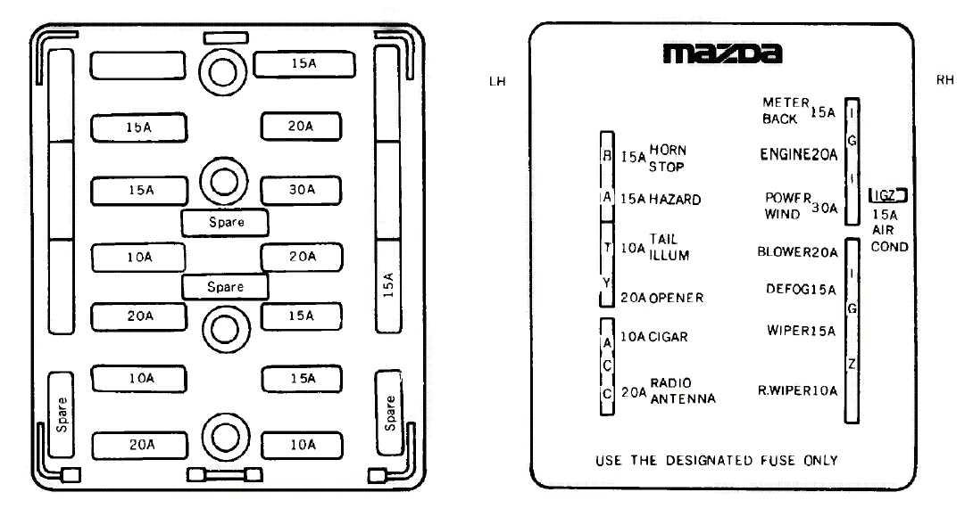 fc rx7 fuse box cover
